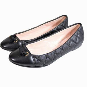 Red Valentino Ballet Flats Bow Quilted Ballerina